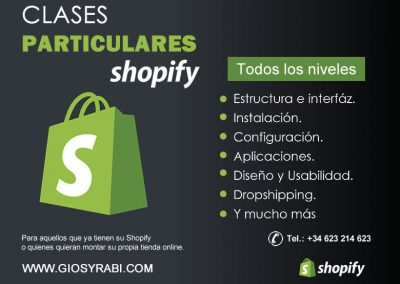 Clases particulares shopify